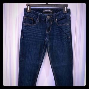 Express skinny blue denim jeans